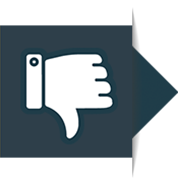 An icon of a thumbs down
