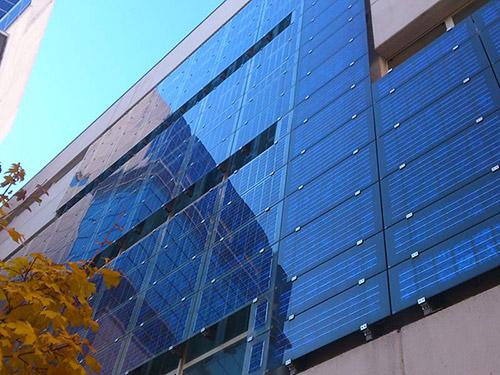 building integrated photovoltaics BIPV solar facade