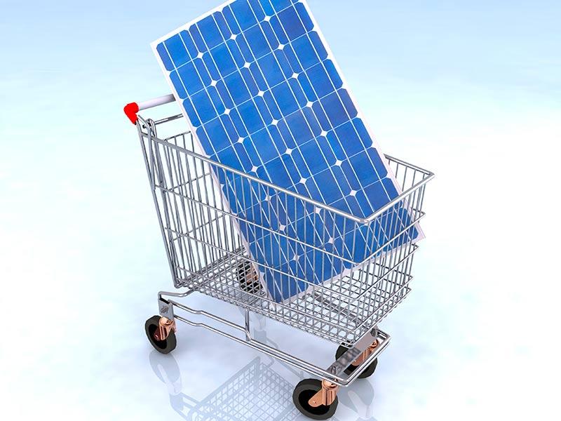 solar panel kit in shopping cart