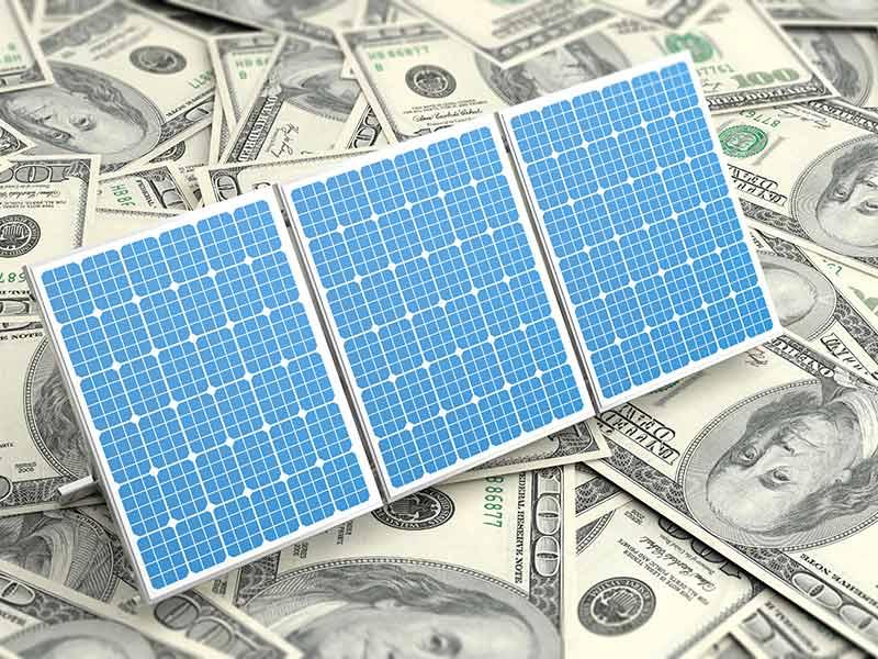 solar panels on cash
