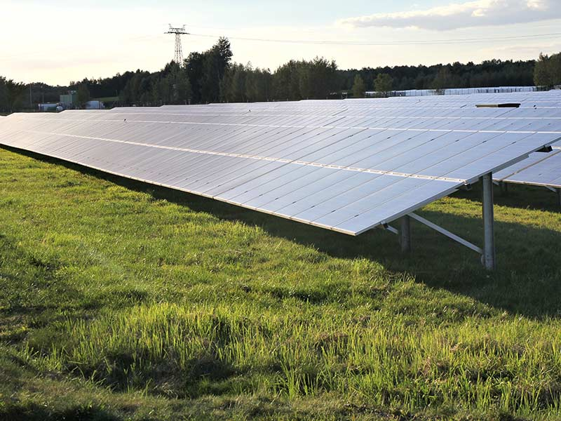 ground mounted solar power station