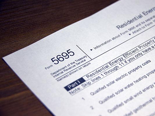 federal solar tax credit form