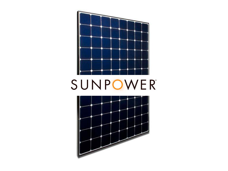 sunpower solar panel with logo