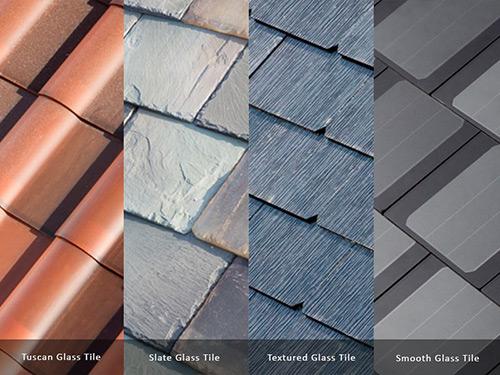 types of Tesla solar tiles