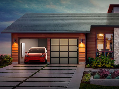 Tesla solar power roof shingles