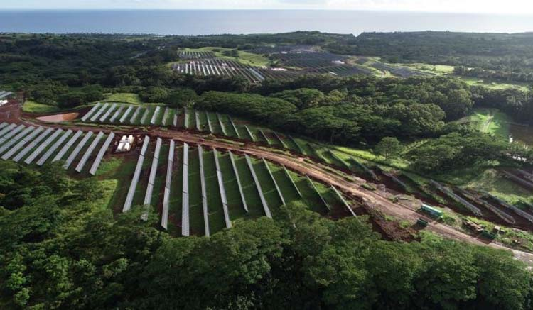 massive solar plant in hawaii landscape