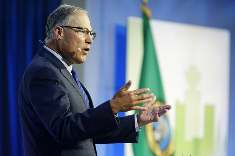 jay inslee giving a speech