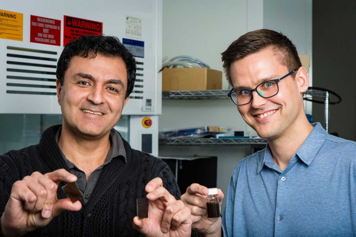 Professors from RMIT who have developed a solar paint that extracts hydrogen from the air