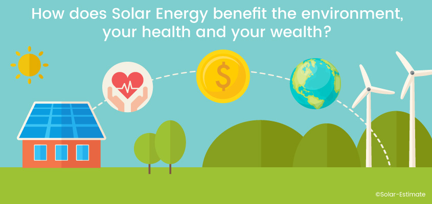 How does Solar energy benefit the environment, your health and your wealth?