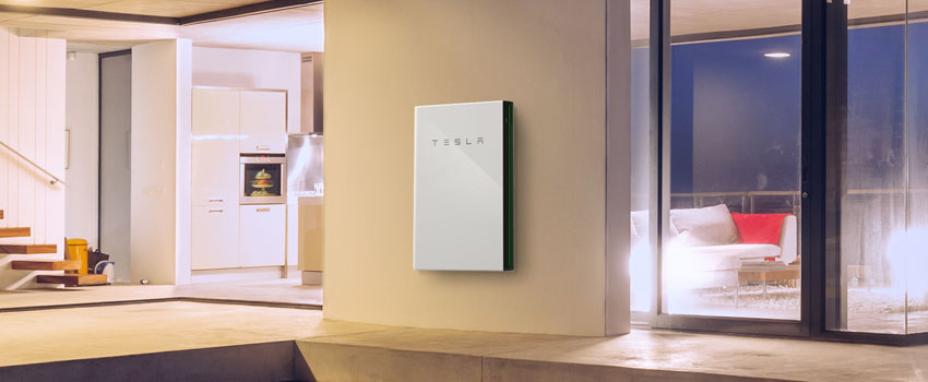 Tesla Powerwall installed on home