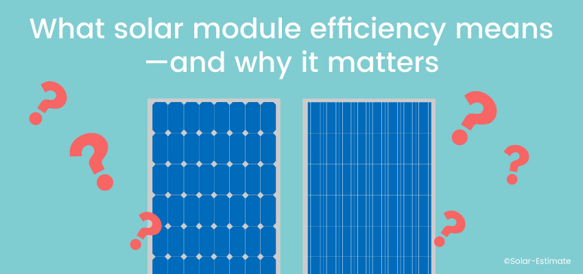 What solar module efficiency means