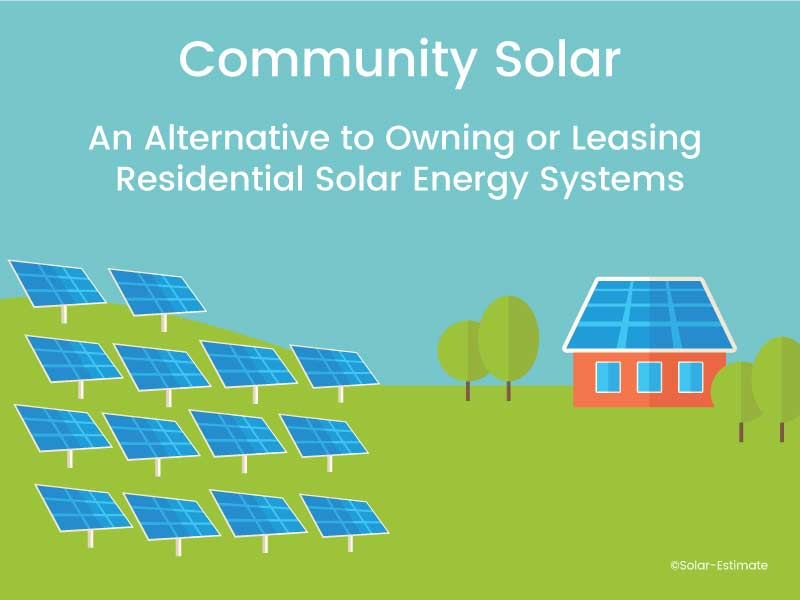 Community Solar: An Alternative to Owning or Leasing Residential Solar Energy Systems