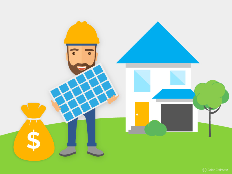 Solar panel installation cost for a typical house in 2019