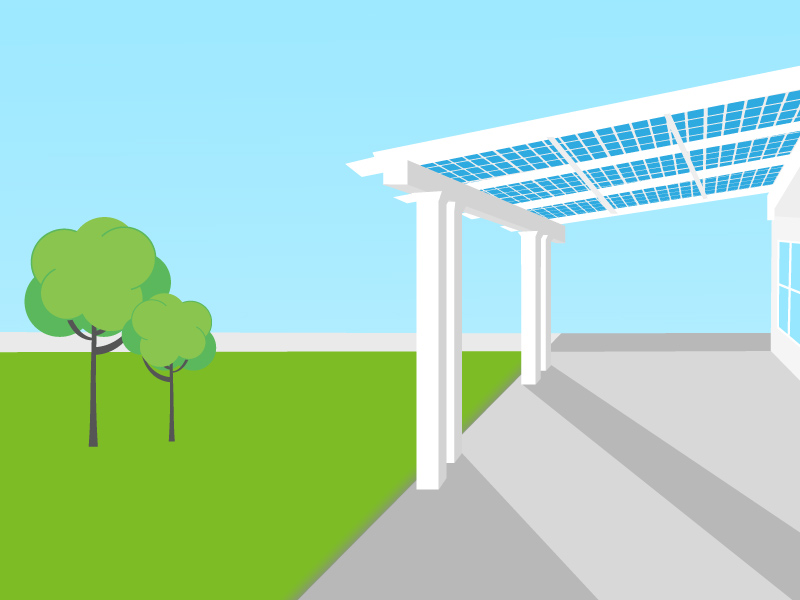 Solar pergolas, solar gazebos and solar patio covers: interesting alternatives to roof-mounted solar panels