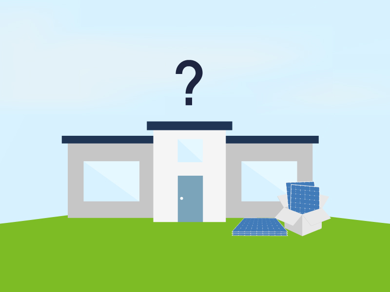 Can you install solar panels on a flat roof? How much is output and cost affected?